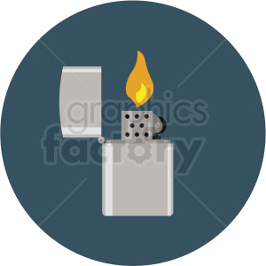lighter flame vector flat icon clipart with circle background clipart. Commercial use image # 406759