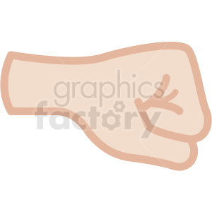 white fist vector icon clipart. Royalty-free image # 406795
