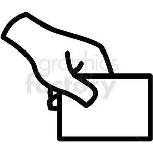 hand holding card vector icon clipart. Commercial use image # 406824
