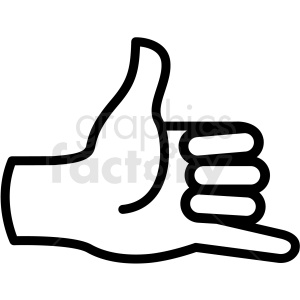 hand hang loose gesture vector icon clipart. Commercial use image # 406834