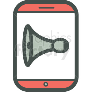 sound smart device vector icon clipart. Commercial use image # 406840