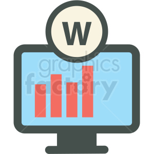 website statistics web hosting vector icons clipart. Royalty-free image # 406852