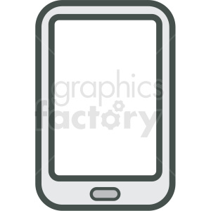 mobile smart device vector icon clipart. Royalty-free image # 406856