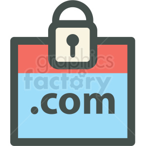 secure dot com web hosting vector icons clipart. Commercial use image # 406927