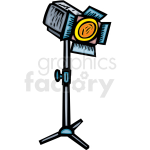 A Single Light for People puting on a Play  clipart. Royalty-free image # 156309