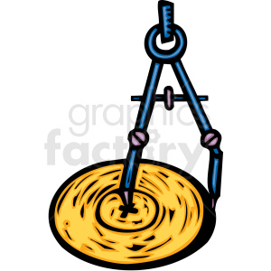 A Protractory Drawing Several Circles clipart. Commercial use image # 156325