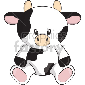 cartoon cow teddy+bear stuffed toy animal