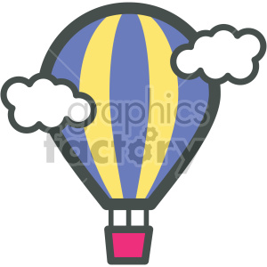 hot air balloon vector flat icons clipart. Royalty-free image # 407082