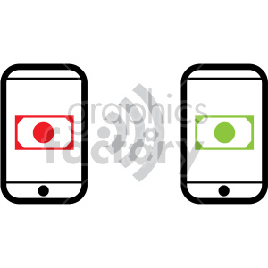 per to per payments fintech vector icons clipart. Royalty-free image # 407094