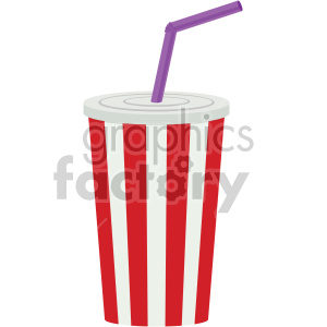 soda cup with straw vector flat icons clipart. Royalty-free icon # 407174