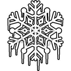 melting snowflake outline rf clip art clipart. Commercial use image # 407203