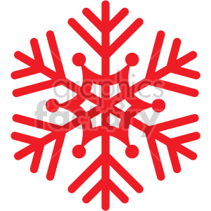 red snowflake rf clip art clipart. Royalty-free icon # 407207