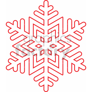 winter snowflake outline vector cut file clipart. Royalty-free image # 407212