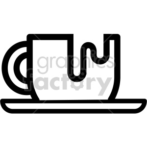 black and white coffee cup vector icon clipart. Royalty-free icon # 407231