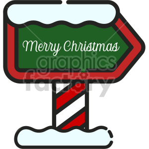 north pole sign christmas icon clipart. Commercial use image # 407301