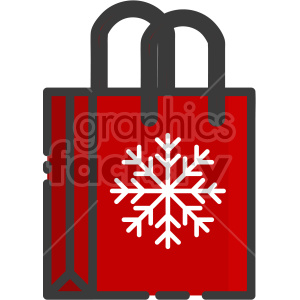 gift bag christmas icon clipart. Commercial use image # 407322