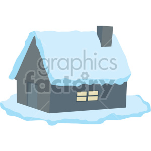 snow covered cabin no background clipart. Royalty-free image # 407393
