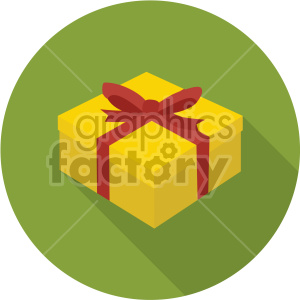 gift box on green background clipart. Commercial use image # 407395