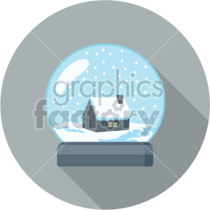snowglobe on gray circle background clipart. Commercial use image # 407403