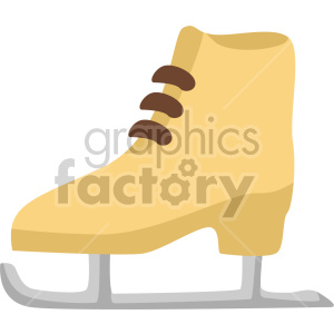 ice skate no background clipart. Commercial use image # 407416