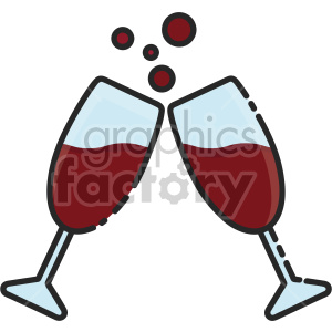 champagne glasses clipart. Royalty-free image # 407421