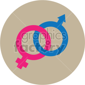 male female symbols vector icon on tan background clipart. Commercial use icon # 407448