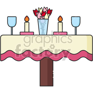 dinner for two on valentines day clipart. Commercial use image # 407464