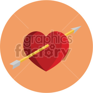 valentines love heart arrow cupid