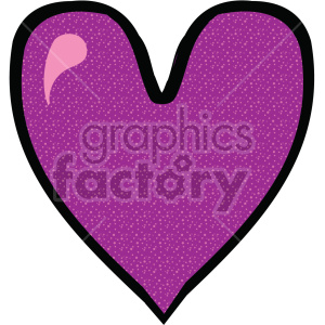 deep purple heart clipart. Royalty-free image # 407522