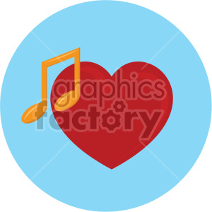 heart with music note blue background clipart. Commercial use image # 407590