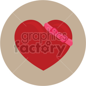 heart with bow for valentines tan background clipart. Royalty-free image # 407607