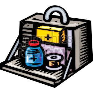 medical first+aid kit box emt   Clip+Art Medical cabinet bag