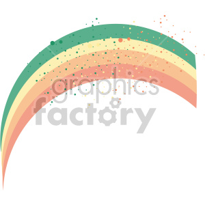 st patricks day rainbow clipart. Royalty-free image # 407643