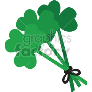 st patricks day clovers shamrocks no background clipart. Royalty-free image # 407653