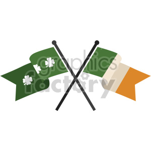 st patricks day flags no background clipart. Commercial use image # 407667
