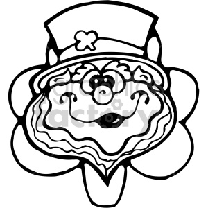 leprechaun cartoon 005 bw clipart. Commercial use image # 407722
