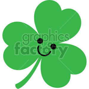 st patricks day shamrock cartoon clipart. Commercial use image # 407742