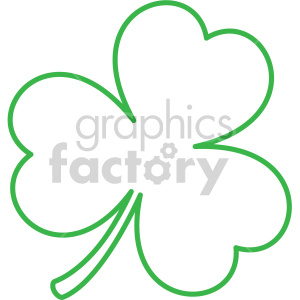 shamrock outline vector clipart. Royalty-free image # 407744