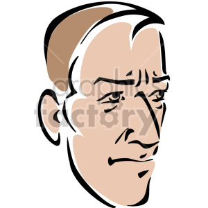 man's head clipart. Commercial use image # 157287