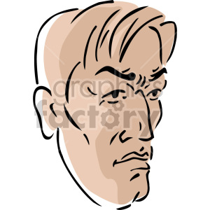 angry man's face clipart. Royalty-free image # 157375