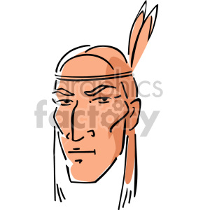 Native American man clipart. Royalty-free image # 157391