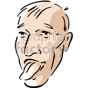 man sticking tongue out clipart. Royalty-free image # 157407
