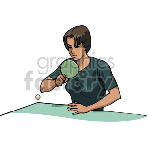 girl playing ping pong clipart. Royalty-free image # 170042