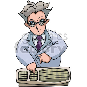 computer scientist clipart. Royalty-free image # 155321