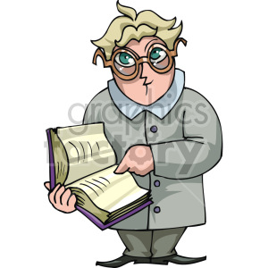 man pointing to an area in a book clipart. Royalty-free image # 155325