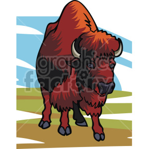 buffalo clipart. Commercial use image # 129310