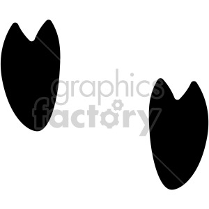 pig hoof tracks vector