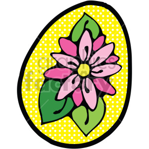 yellow easter egg clipart. Royalty-free image # 407863