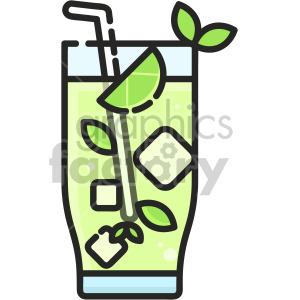 Mocktail Mojito clipart. Commercial use icon # 407938