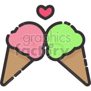 Ice Cream Cones clipart. Royalty-free image # 407963